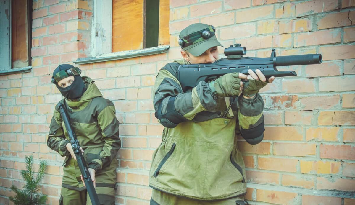 Военный лазертаг в Калуге